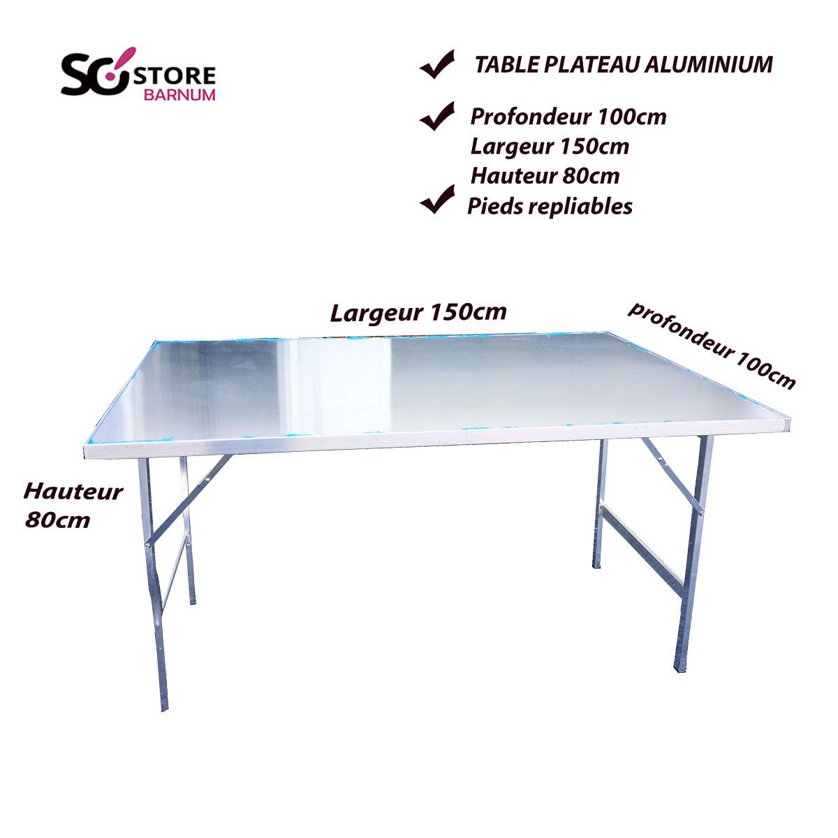 Table Aluminium100cmx150cm Plateau Aluminium100cmx150cm Table Table Aluminium100cmx150cm Plateau Plateau Table q54RLA3j